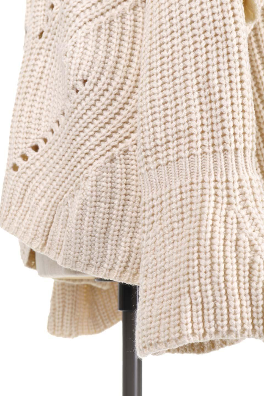 L.A.直輸入のChunkyRibKnittedSweaterデザインスリーブニット大人カジュアルに最適な海外ファッションのothers(その他インポートアイテム)のトップスやニット・セーター。1枚でサマになるチャンキーニットのセーター。フリルが付いたキャンディースリーブチックな袖がとても可愛いざっくりニット。/main-11