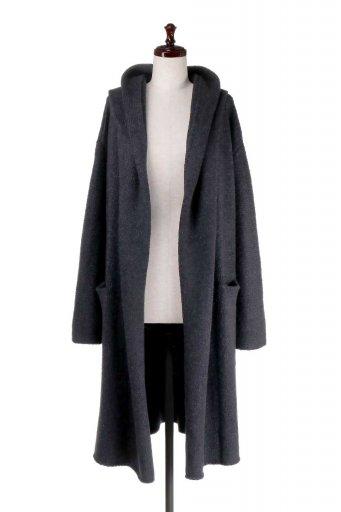 海外ファッション好きのためのカリフォルニアテイストの大人カジュアルインポートブランドLOVESTITCH(ラブステッチ)のLennox Sweater Coat フード付きロングニットカーディガン