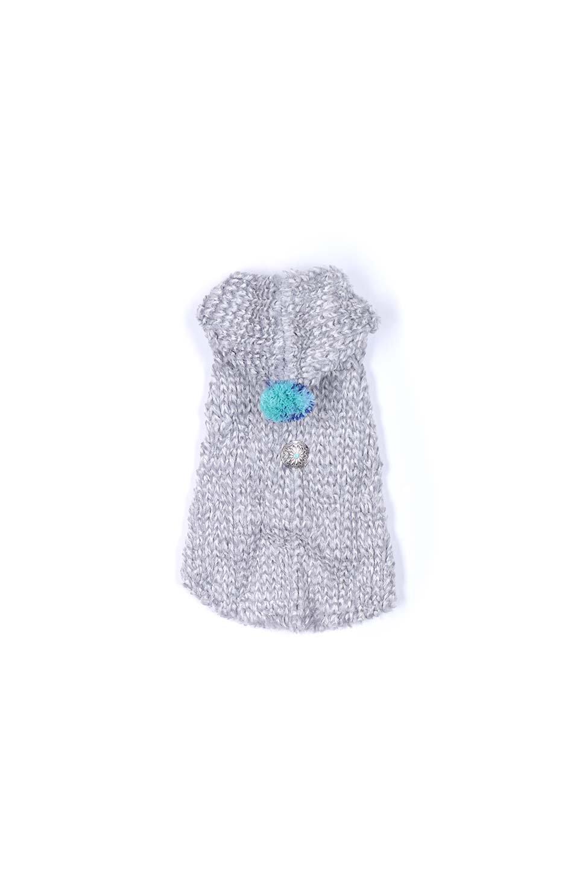 ChenilleKnitDogHoodieモコモコ・ドッグパーカ大人カジュアルに最適な海外ファッションのothers(その他インポートアイテム)のドッググッズや。肌触りの良いモールニットのフワフワモコモコのニットパーカ。胸のベルクロで全開になり着用が楽になります。/main-7
