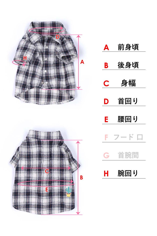 CaliforniaCactusDogShirtsカリフォルニア・ドッグシャツ大人カジュアルに最適な海外ファッションのothers(その他インポートアイテム)のドッググッズや。アメカジテイストのワンちゃん用チェックシャツ。洗いざらしのシワも気にならないカジュアルなチェックシャツ。/main-23