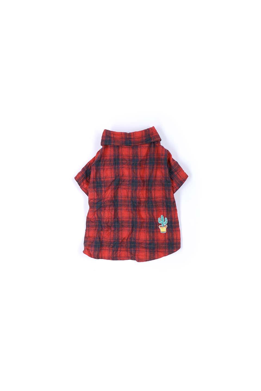 CaliforniaCactusDogShirtsカリフォルニア・ドッグシャツ大人カジュアルに最適な海外ファッションのothers(その他インポートアイテム)のドッググッズや。アメカジテイストのワンちゃん用チェックシャツ。洗いざらしのシワも気にならないカジュアルなチェックシャツ。/main-8