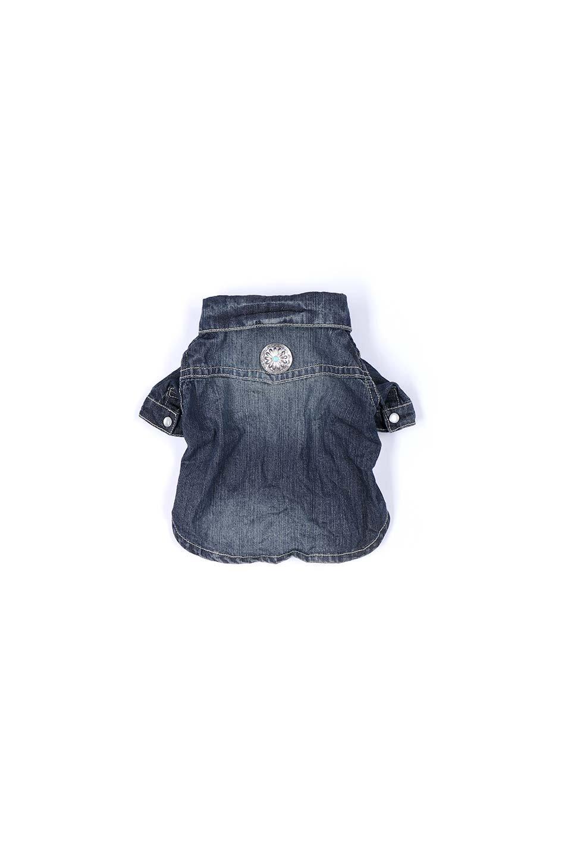 CaliforniaCactusDogDenimShirtsカリフォルニア・ドッグデニムシャツ大人カジュアルに最適な海外ファッションのothers(その他インポートアイテム)のドッググッズや。本格的な作りのデニム・ウエスタンシャツ。胸のヨークもパールのスナップボタンも人のシャツ顔負けのディテールです。/main-10