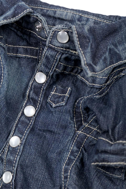 CaliforniaCactusDogDenimShirtsカリフォルニア・ドッグデニムシャツ大人カジュアルに最適な海外ファッションのothers(その他インポートアイテム)のドッググッズや。本格的な作りのデニム・ウエスタンシャツ。胸のヨークもパールのスナップボタンも人のシャツ顔負けのディテールです。/main-12