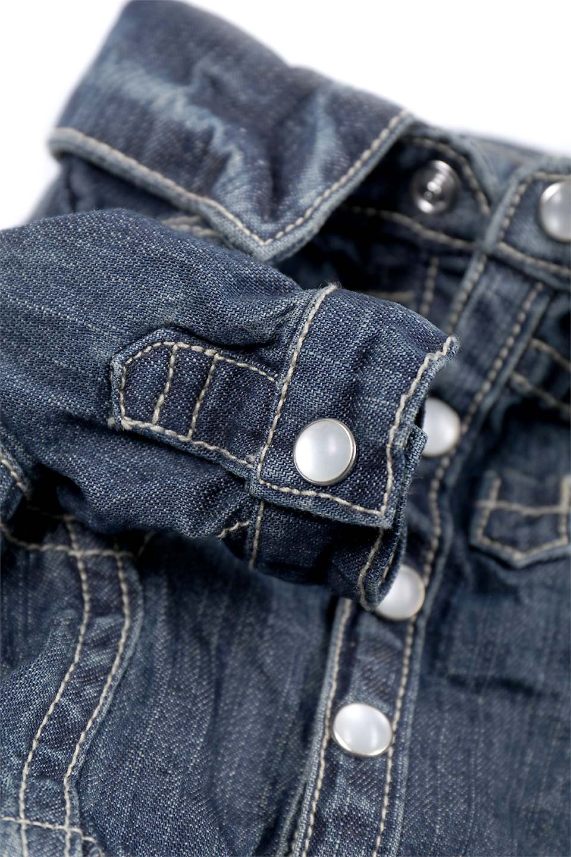 CaliforniaCactusDogDenimShirtsカリフォルニア・ドッグデニムシャツ大人カジュアルに最適な海外ファッションのothers(その他インポートアイテム)のドッググッズや。本格的な作りのデニム・ウエスタンシャツ。胸のヨークもパールのスナップボタンも人のシャツ顔負けのディテールです。/main-13