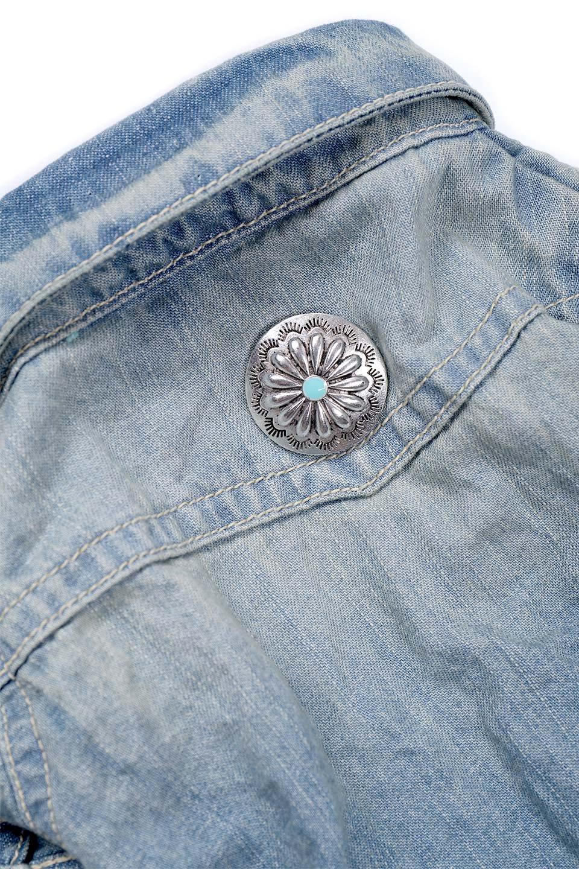 CaliforniaCactusDogDenimShirtsカリフォルニア・ドッグデニムシャツ大人カジュアルに最適な海外ファッションのothers(その他インポートアイテム)のドッググッズや。本格的な作りのデニム・ウエスタンシャツ。胸のヨークもパールのスナップボタンも人のシャツ顔負けのディテールです。/main-5