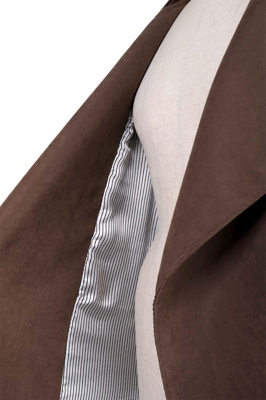 BrownSuedeTrenchCoatスエード調トレンチコート大人カジュアルに最適な海外ファッションのothers(その他インポートアイテム)のアウターやコート。美シルエットの裏地付きトレンチコート。デニムと合わせるカジュアルコーデから、かっちり目のシックなコーデまで、その日の気分で楽しめるオールマイティーなコート。/main-10