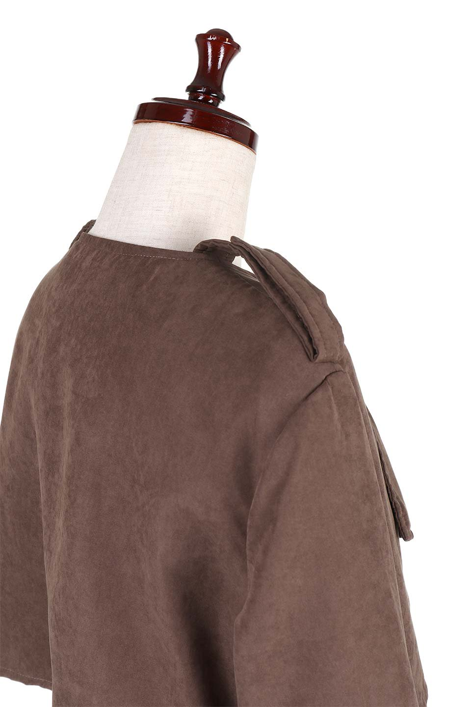 BrownSuedeTrenchCoatスエード調トレンチコート大人カジュアルに最適な海外ファッションのothers(その他インポートアイテム)のアウターやコート。美シルエットの裏地付きトレンチコート。デニムと合わせるカジュアルコーデから、かっちり目のシックなコーデまで、その日の気分で楽しめるオールマイティーなコート。/main-6