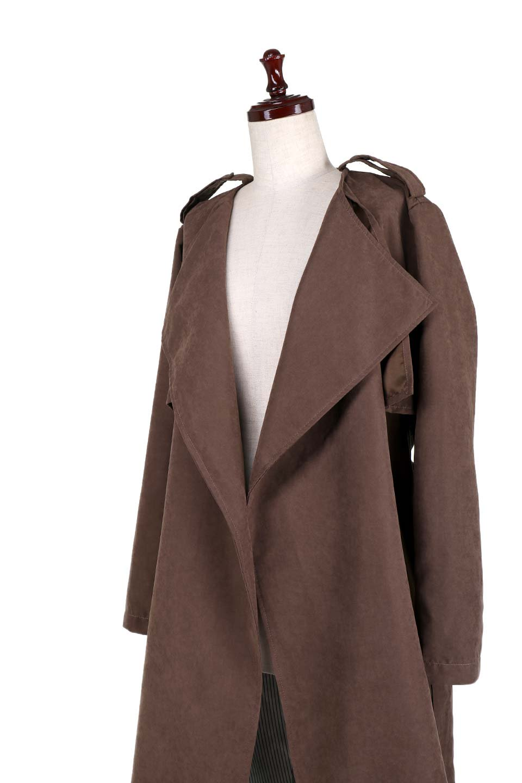 BrownSuedeTrenchCoatスエード調トレンチコート大人カジュアルに最適な海外ファッションのothers(その他インポートアイテム)のアウターやコート。美シルエットの裏地付きトレンチコート。デニムと合わせるカジュアルコーデから、かっちり目のシックなコーデまで、その日の気分で楽しめるオールマイティーなコート。/main-7