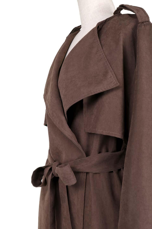 BrownSuedeTrenchCoatスエード調トレンチコート大人カジュアルに最適な海外ファッションのothers(その他インポートアイテム)のアウターやコート。美シルエットの裏地付きトレンチコート。デニムと合わせるカジュアルコーデから、かっちり目のシックなコーデまで、その日の気分で楽しめるオールマイティーなコート。/main-8
