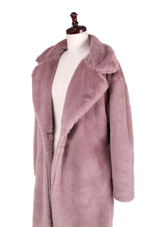 PinkVelvetFurLongCoatピンクファーコート大人カジュアルに最適な海外ファッションのothers(その他インポートアイテム)のアウターやコート。ベルベットのようなピンクのフェイクファーが目を引くコート。ここ数年海外ではデザイン性に富んだファーアイテムが人気です。/main-9