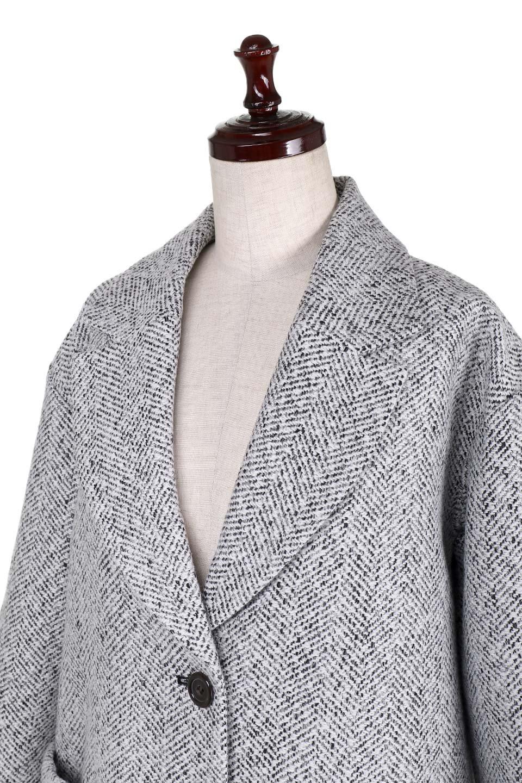 TweedHerringboneChesterCoatツイードヘリンボーン・チェスターコート大人カジュアルに最適な海外ファッションのothers(その他インポートアイテム)のアウターやコート。定番シルエットで大人気のチェスターコート。ミックス色のツイードコートは冬コーデのお役立ちアイテム。/main-10