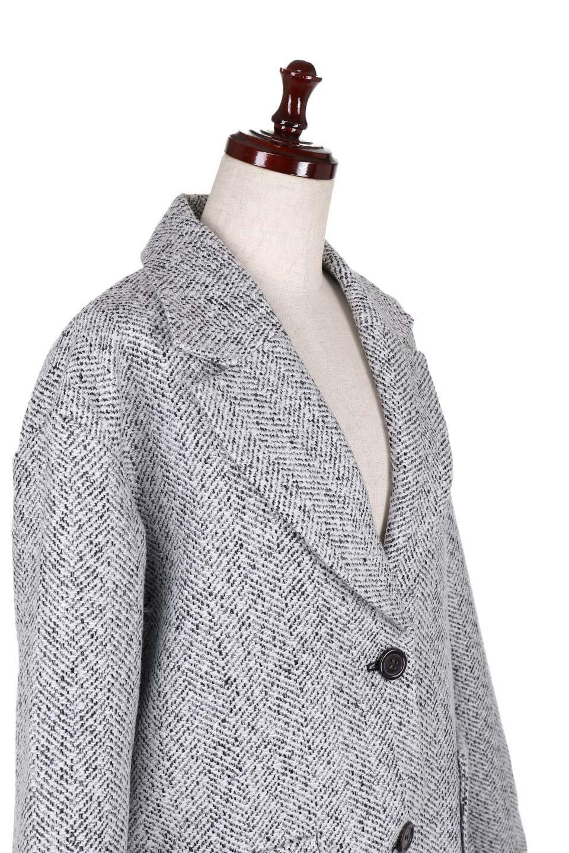 TweedHerringboneChesterCoatツイードヘリンボーン・チェスターコート大人カジュアルに最適な海外ファッションのothers(その他インポートアイテム)のアウターやコート。定番シルエットで大人気のチェスターコート。ミックス色のツイードコートは冬コーデのお役立ちアイテム。/main-11