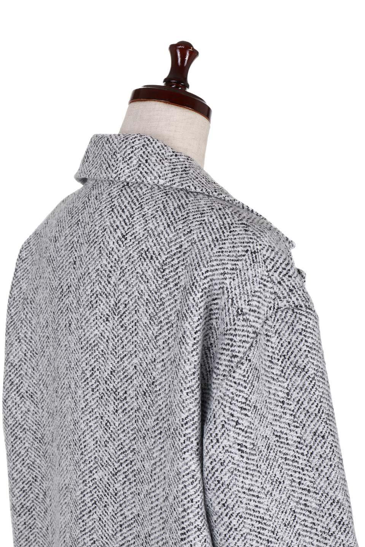 TweedHerringboneChesterCoatツイードヘリンボーン・チェスターコート大人カジュアルに最適な海外ファッションのothers(その他インポートアイテム)のアウターやコート。定番シルエットで大人気のチェスターコート。ミックス色のツイードコートは冬コーデのお役立ちアイテム。/main-12