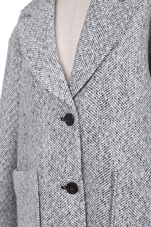 TweedHerringboneChesterCoatツイードヘリンボーン・チェスターコート大人カジュアルに最適な海外ファッションのothers(その他インポートアイテム)のアウターやコート。定番シルエットで大人気のチェスターコート。ミックス色のツイードコートは冬コーデのお役立ちアイテム。/main-13
