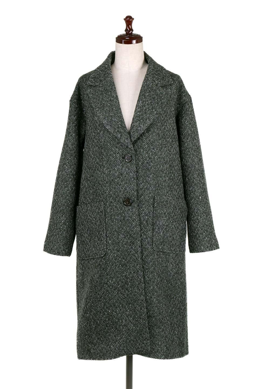 TweedHerringboneChesterCoatツイードヘリンボーン・チェスターコート大人カジュアルに最適な海外ファッションのothers(その他インポートアイテム)のアウターやコート。定番シルエットで大人気のチェスターコート。ミックス色のツイードコートは冬コーデのお役立ちアイテム。/main-5
