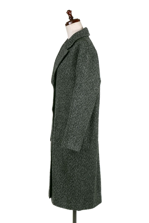 TweedHerringboneChesterCoatツイードヘリンボーン・チェスターコート大人カジュアルに最適な海外ファッションのothers(その他インポートアイテム)のアウターやコート。定番シルエットで大人気のチェスターコート。ミックス色のツイードコートは冬コーデのお役立ちアイテム。/main-7