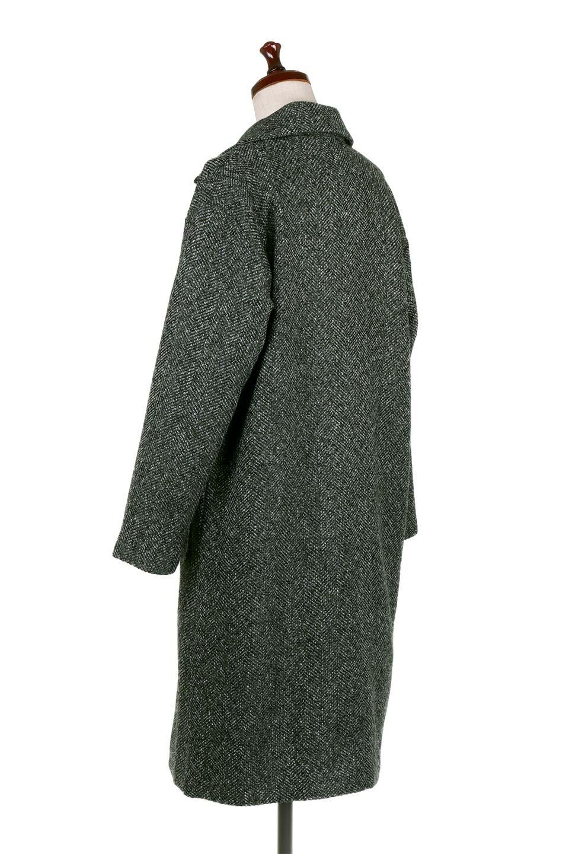 TweedHerringboneChesterCoatツイードヘリンボーン・チェスターコート大人カジュアルに最適な海外ファッションのothers(その他インポートアイテム)のアウターやコート。定番シルエットで大人気のチェスターコート。ミックス色のツイードコートは冬コーデのお役立ちアイテム。/main-8