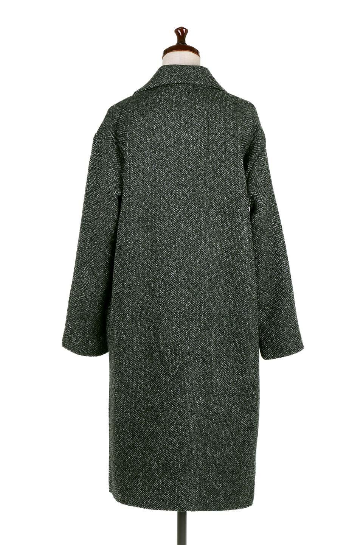 TweedHerringboneChesterCoatツイードヘリンボーン・チェスターコート大人カジュアルに最適な海外ファッションのothers(その他インポートアイテム)のアウターやコート。定番シルエットで大人気のチェスターコート。ミックス色のツイードコートは冬コーデのお役立ちアイテム。/main-9