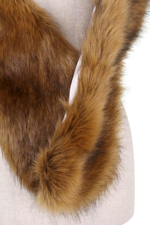 EcoFurCollarLongShawlエコファー・ロングティペット大人カジュアルに最適な海外ファッションのothers(その他インポートアイテム)のハット&キャップや。ふっくら肉厚なエコファーのロングティペット。フワッフワでボリューミーなのエコファーは肌触りも良くゴージャスな可愛さをプラスしてくれます。/main-10