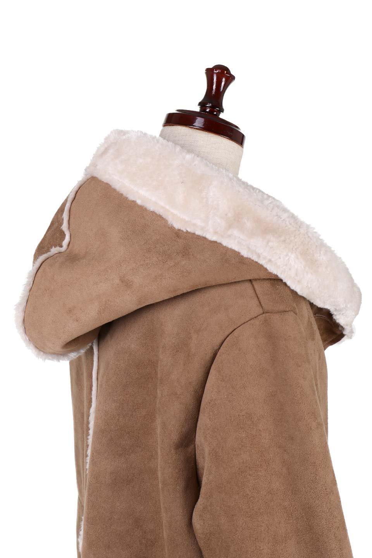 FauxShearlingHoodedCoatフード付きムートンコート大人カジュアルに最適な海外ファッションのothers(その他インポートアイテム)のアウターやコート。ふわふわ裏地が気持ち良いフェイクムートンのフード付きコート。表地は風を通しにくく、裏地は空気を包むファーでぬくぬくのコートです。/main-11