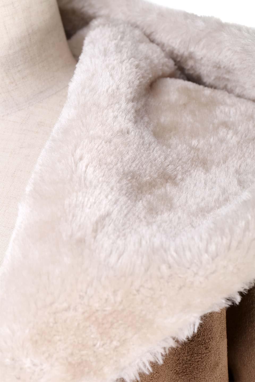 FauxShearlingHoodedCoatフード付きムートンコート大人カジュアルに最適な海外ファッションのothers(その他インポートアイテム)のアウターやコート。ふわふわ裏地が気持ち良いフェイクムートンのフード付きコート。表地は風を通しにくく、裏地は空気を包むファーでぬくぬくのコートです。/main-12