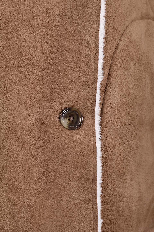 FauxShearlingHoodedCoatフード付きムートンコート大人カジュアルに最適な海外ファッションのothers(その他インポートアイテム)のアウターやコート。ふわふわ裏地が気持ち良いフェイクムートンのフード付きコート。表地は風を通しにくく、裏地は空気を包むファーでぬくぬくのコートです。/main-13