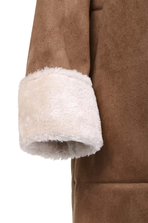 FauxShearlingHoodedCoatフード付きムートンコート大人カジュアルに最適な海外ファッションのothers(その他インポートアイテム)のアウターやコート。ふわふわ裏地が気持ち良いフェイクムートンのフード付きコート。表地は風を通しにくく、裏地は空気を包むファーでぬくぬくのコートです。/main-14