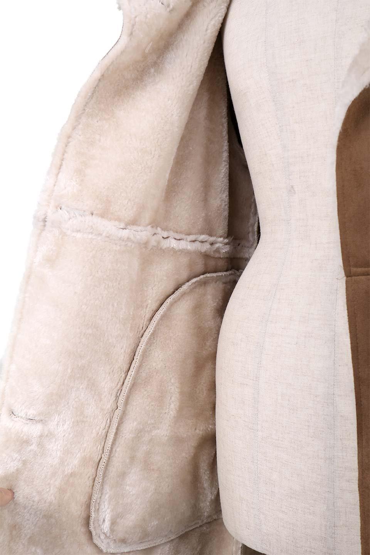 FauxShearlingHoodedCoatフード付きムートンコート大人カジュアルに最適な海外ファッションのothers(その他インポートアイテム)のアウターやコート。ふわふわ裏地が気持ち良いフェイクムートンのフード付きコート。表地は風を通しにくく、裏地は空気を包むファーでぬくぬくのコートです。/main-17