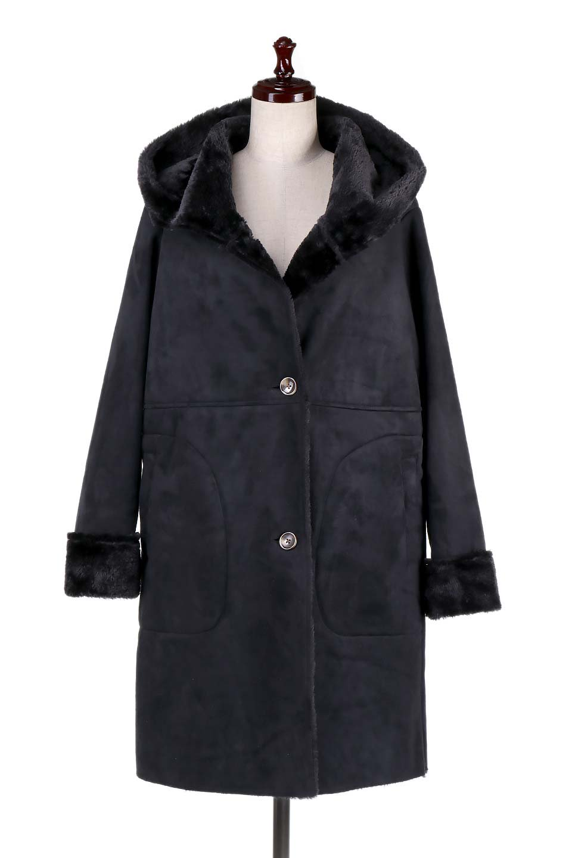 FauxShearlingHoodedCoatフード付きムートンコート大人カジュアルに最適な海外ファッションのothers(その他インポートアイテム)のアウターやコート。ふわふわ裏地が気持ち良いフェイクムートンのフード付きコート。表地は風を通しにくく、裏地は空気を包むファーでぬくぬくのコートです。/main-5