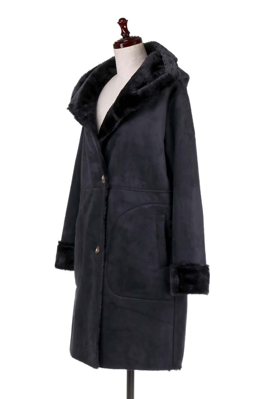 FauxShearlingHoodedCoatフード付きムートンコート大人カジュアルに最適な海外ファッションのothers(その他インポートアイテム)のアウターやコート。ふわふわ裏地が気持ち良いフェイクムートンのフード付きコート。表地は風を通しにくく、裏地は空気を包むファーでぬくぬくのコートです。/main-6