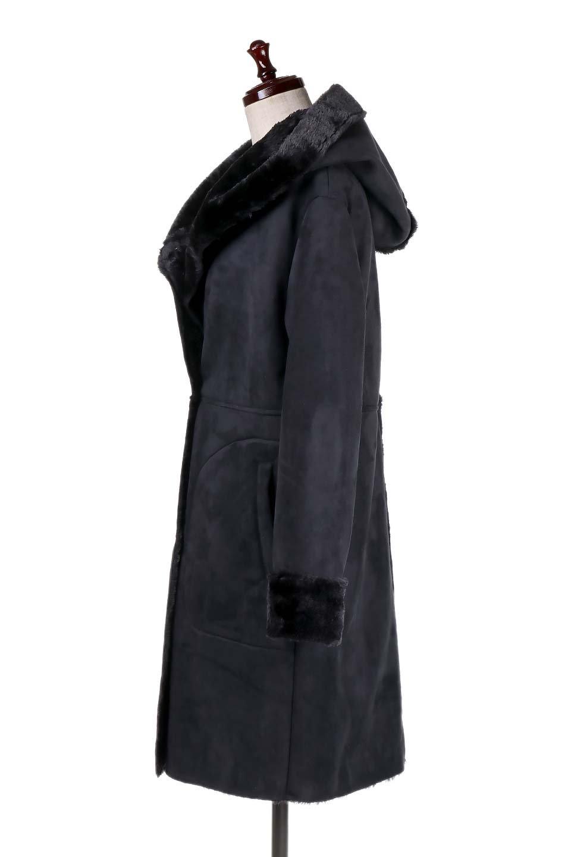 FauxShearlingHoodedCoatフード付きムートンコート大人カジュアルに最適な海外ファッションのothers(その他インポートアイテム)のアウターやコート。ふわふわ裏地が気持ち良いフェイクムートンのフード付きコート。表地は風を通しにくく、裏地は空気を包むファーでぬくぬくのコートです。/main-7