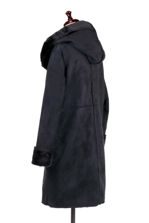 FauxShearlingHoodedCoatフード付きムートンコート大人カジュアルに最適な海外ファッションのothers(その他インポートアイテム)のアウターやコート。ふわふわ裏地が気持ち良いフェイクムートンのフード付きコート。表地は風を通しにくく、裏地は空気を包むファーでぬくぬくのコートです。/main-8