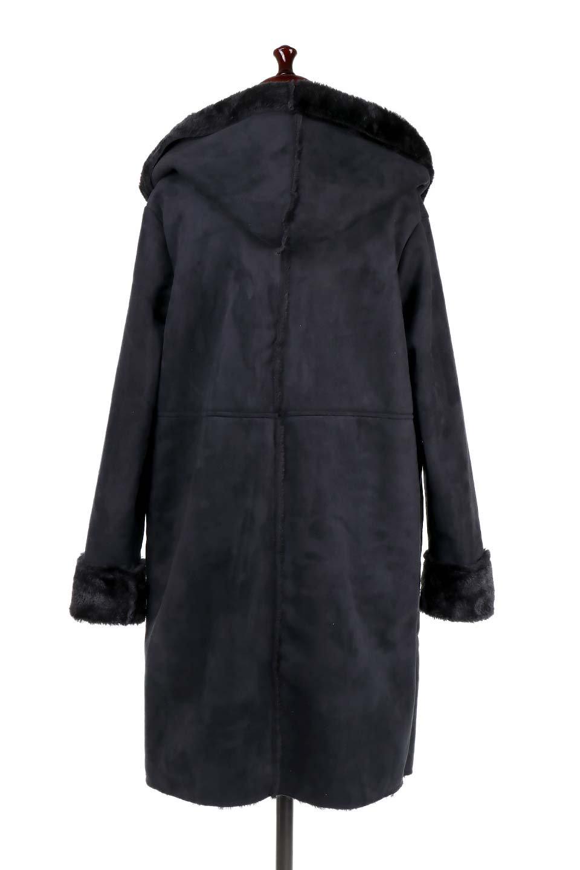 FauxShearlingHoodedCoatフード付きムートンコート大人カジュアルに最適な海外ファッションのothers(その他インポートアイテム)のアウターやコート。ふわふわ裏地が気持ち良いフェイクムートンのフード付きコート。表地は風を通しにくく、裏地は空気を包むファーでぬくぬくのコートです。/main-9