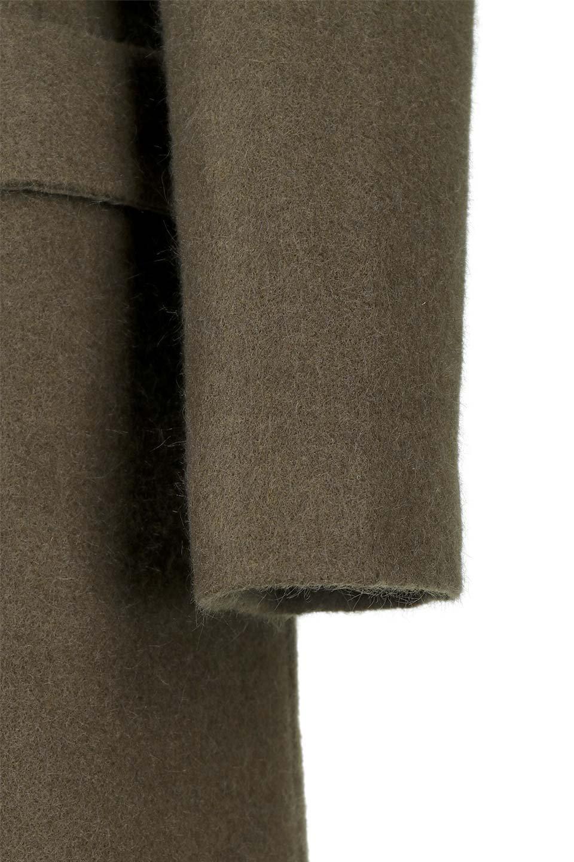 DoubleBreastedWoolenCoatウール混スリムロングコート大人カジュアルに最適な海外ファッションのothers(その他インポートアイテム)のアウターやコート。ウール混で暖かいスリムなシルエットのトレンチコート。最近はオーバーサイズなコートばかりですが、スリムなコートを探していた方も多いはず。/main-10