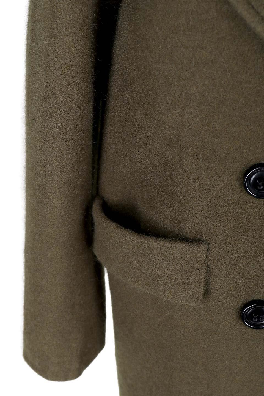 DoubleBreastedWoolenCoatウール混スリムロングコート大人カジュアルに最適な海外ファッションのothers(その他インポートアイテム)のアウターやコート。ウール混で暖かいスリムなシルエットのトレンチコート。最近はオーバーサイズなコートばかりですが、スリムなコートを探していた方も多いはず。/main-11