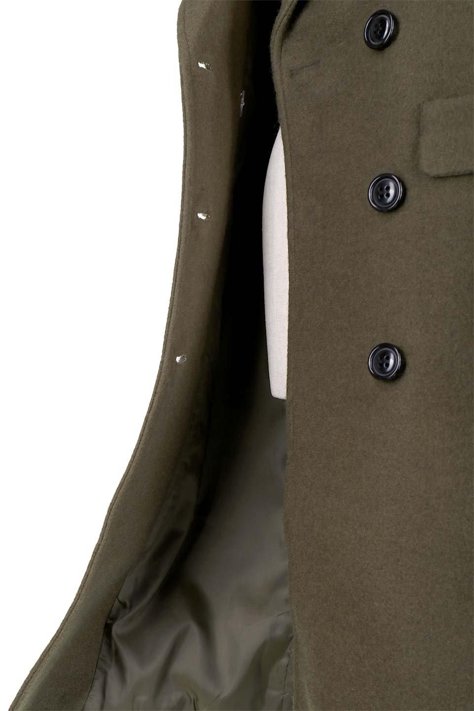 DoubleBreastedWoolenCoatウール混スリムロングコート大人カジュアルに最適な海外ファッションのothers(その他インポートアイテム)のアウターやコート。ウール混で暖かいスリムなシルエットのトレンチコート。最近はオーバーサイズなコートばかりですが、スリムなコートを探していた方も多いはず。/main-12