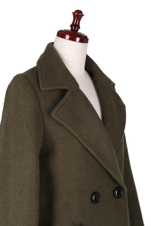 DoubleBreastedWoolenCoatウール混スリムロングコート大人カジュアルに最適な海外ファッションのothers(その他インポートアイテム)のアウターやコート。ウール混で暖かいスリムなシルエットのトレンチコート。最近はオーバーサイズなコートばかりですが、スリムなコートを探していた方も多いはず。/main-5
