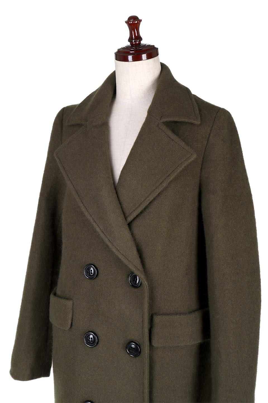 DoubleBreastedWoolenCoatウール混スリムロングコート大人カジュアルに最適な海外ファッションのothers(その他インポートアイテム)のアウターやコート。ウール混で暖かいスリムなシルエットのトレンチコート。最近はオーバーサイズなコートばかりですが、スリムなコートを探していた方も多いはず。/main-6