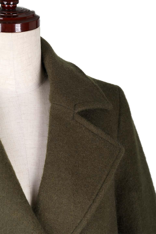 DoubleBreastedWoolenCoatウール混スリムロングコート大人カジュアルに最適な海外ファッションのothers(その他インポートアイテム)のアウターやコート。ウール混で暖かいスリムなシルエットのトレンチコート。最近はオーバーサイズなコートばかりですが、スリムなコートを探していた方も多いはず。/main-7
