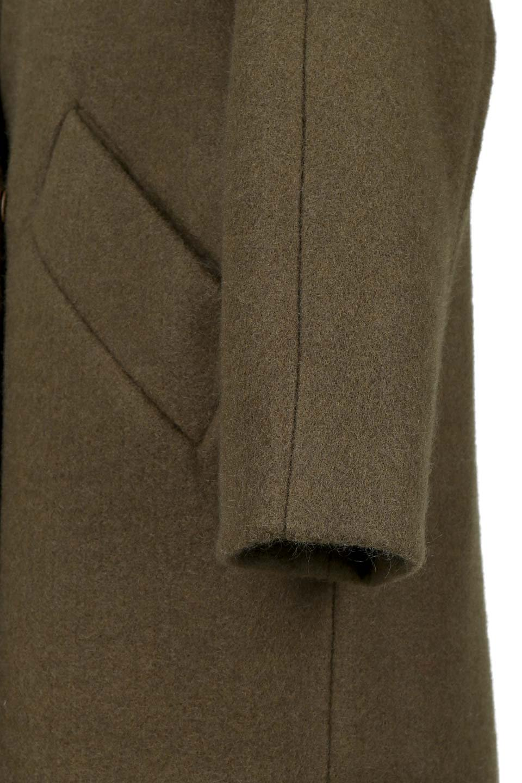 DoubleBreastedCocoonCoatウール混コクーンコート大人カジュアルに最適な海外ファッションのothers(その他インポートアイテム)のアウターやコート。ウール混で暖かいコクーンシルエットのトレンチコート。暖か素材に加えて、ダボダボすぎないミニマルなコクーンシルエットが可愛いコートです。/main-10