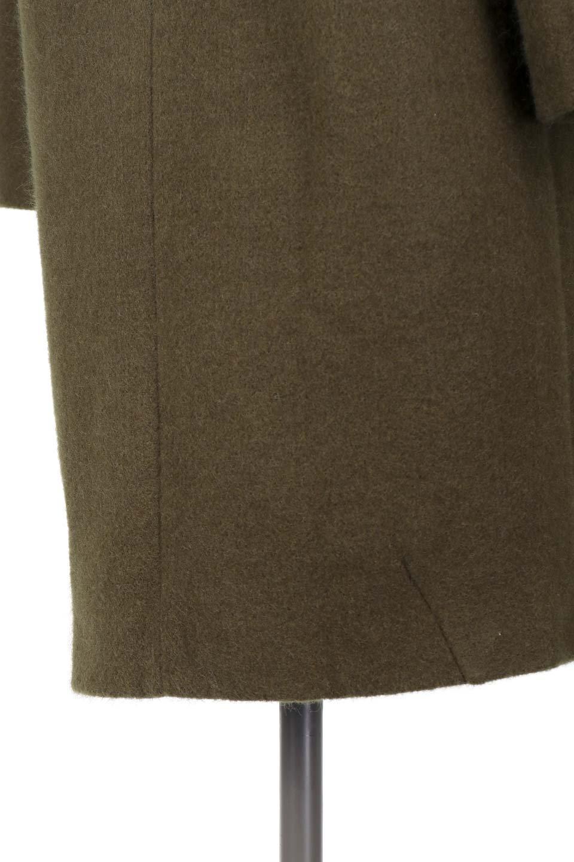 DoubleBreastedCocoonCoatウール混コクーンコート大人カジュアルに最適な海外ファッションのothers(その他インポートアイテム)のアウターやコート。ウール混で暖かいコクーンシルエットのトレンチコート。暖か素材に加えて、ダボダボすぎないミニマルなコクーンシルエットが可愛いコートです。/main-11