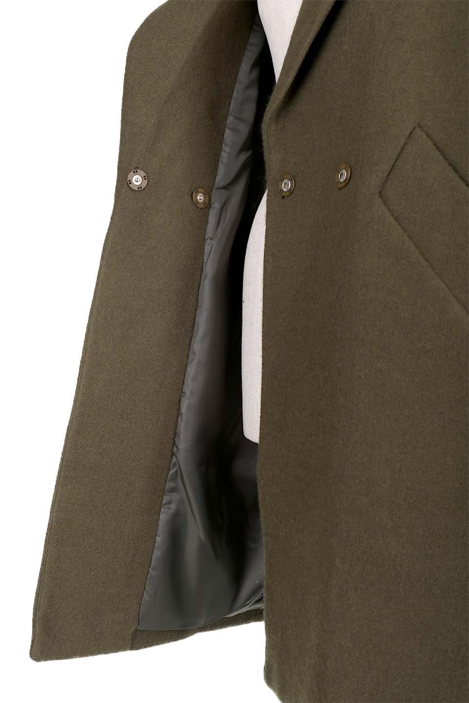 DoubleBreastedCocoonCoatウール混コクーンコート大人カジュアルに最適な海外ファッションのothers(その他インポートアイテム)のアウターやコート。ウール混で暖かいコクーンシルエットのトレンチコート。暖か素材に加えて、ダボダボすぎないミニマルなコクーンシルエットが可愛いコートです。/main-12