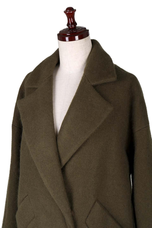 DoubleBreastedCocoonCoatウール混コクーンコート大人カジュアルに最適な海外ファッションのothers(その他インポートアイテム)のアウターやコート。ウール混で暖かいコクーンシルエットのトレンチコート。暖か素材に加えて、ダボダボすぎないミニマルなコクーンシルエットが可愛いコートです。/main-5