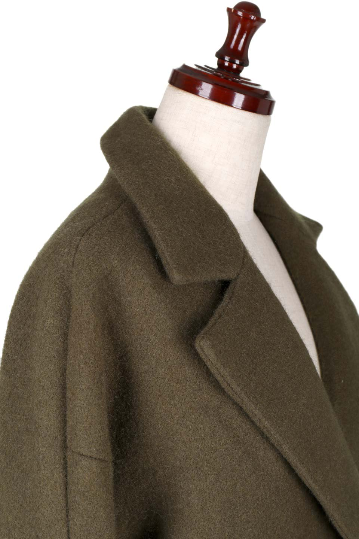 DoubleBreastedCocoonCoatウール混コクーンコート大人カジュアルに最適な海外ファッションのothers(その他インポートアイテム)のアウターやコート。ウール混で暖かいコクーンシルエットのトレンチコート。暖か素材に加えて、ダボダボすぎないミニマルなコクーンシルエットが可愛いコートです。/main-6