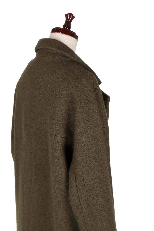 DoubleBreastedCocoonCoatウール混コクーンコート大人カジュアルに最適な海外ファッションのothers(その他インポートアイテム)のアウターやコート。ウール混で暖かいコクーンシルエットのトレンチコート。暖か素材に加えて、ダボダボすぎないミニマルなコクーンシルエットが可愛いコートです。/main-7