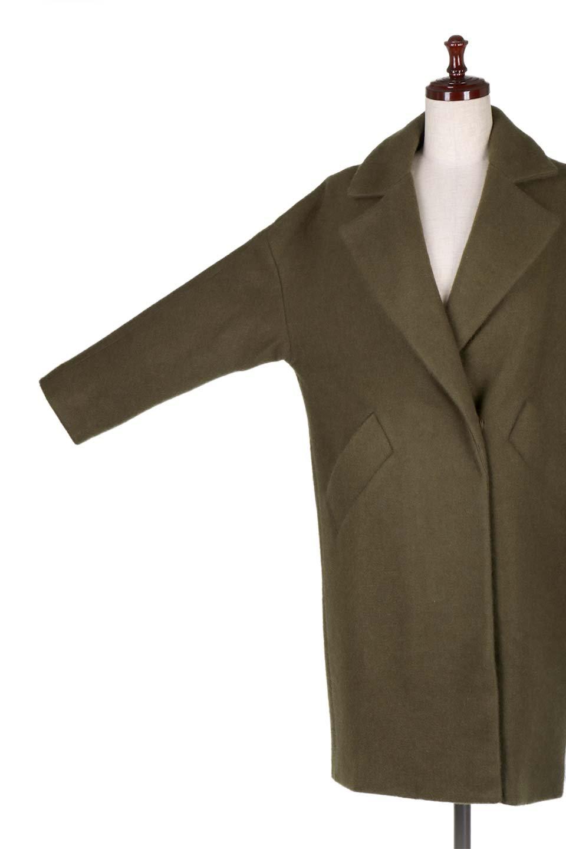 DoubleBreastedCocoonCoatウール混コクーンコート大人カジュアルに最適な海外ファッションのothers(その他インポートアイテム)のアウターやコート。ウール混で暖かいコクーンシルエットのトレンチコート。暖か素材に加えて、ダボダボすぎないミニマルなコクーンシルエットが可愛いコートです。/main-8
