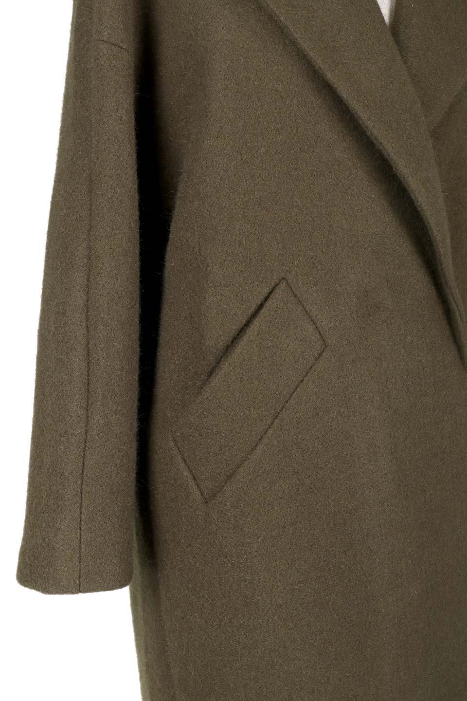 DoubleBreastedCocoonCoatウール混コクーンコート大人カジュアルに最適な海外ファッションのothers(その他インポートアイテム)のアウターやコート。ウール混で暖かいコクーンシルエットのトレンチコート。暖か素材に加えて、ダボダボすぎないミニマルなコクーンシルエットが可愛いコートです。/main-9