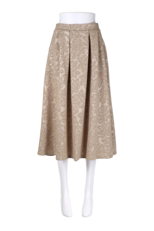 FloralEmbossingFlaredSpringSkirt花柄エンボス・フレアスカート大人カジュアルに最適な海外ファッションのothers(その他インポートアイテム)のボトムやスカート。花柄エンボス加工が印象的なミディスカート。大人気のスカートが春の新色を追加して新登場。/main-5