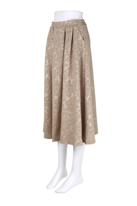 FloralEmbossingFlaredSpringSkirt花柄エンボス・フレアスカート大人カジュアルに最適な海外ファッションのothers(その他インポートアイテム)のボトムやスカート。花柄エンボス加工が印象的なミディスカート。大人気のスカートが春の新色を追加して新登場。/main-6
