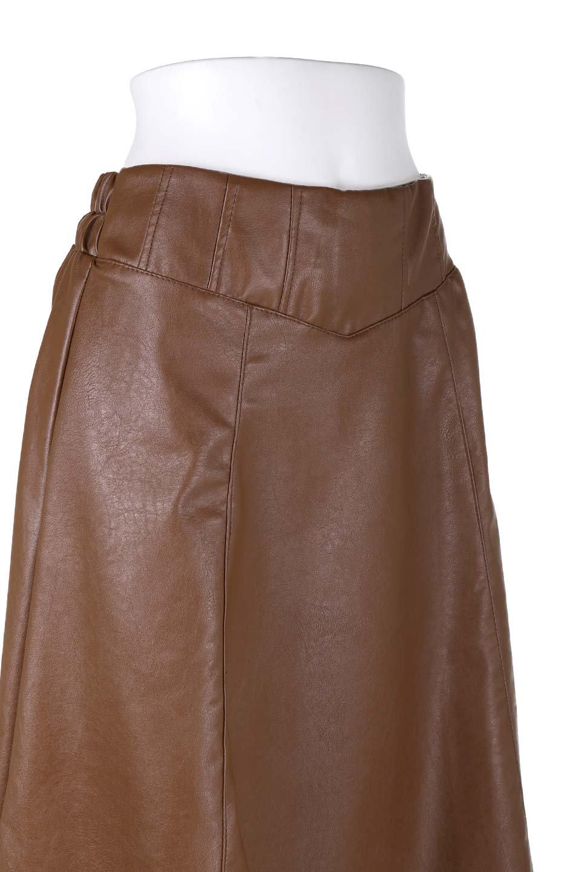 EcoLeatherSideSlitFlaredSkirtサイドスリット入り・レザーフレアスカート大人カジュアルに最適な海外ファッションのothers(その他インポートアイテム)のボトムやスカート。注目のレーザースカート。ジワジワと人気が出てきているアイテムです。/main-10
